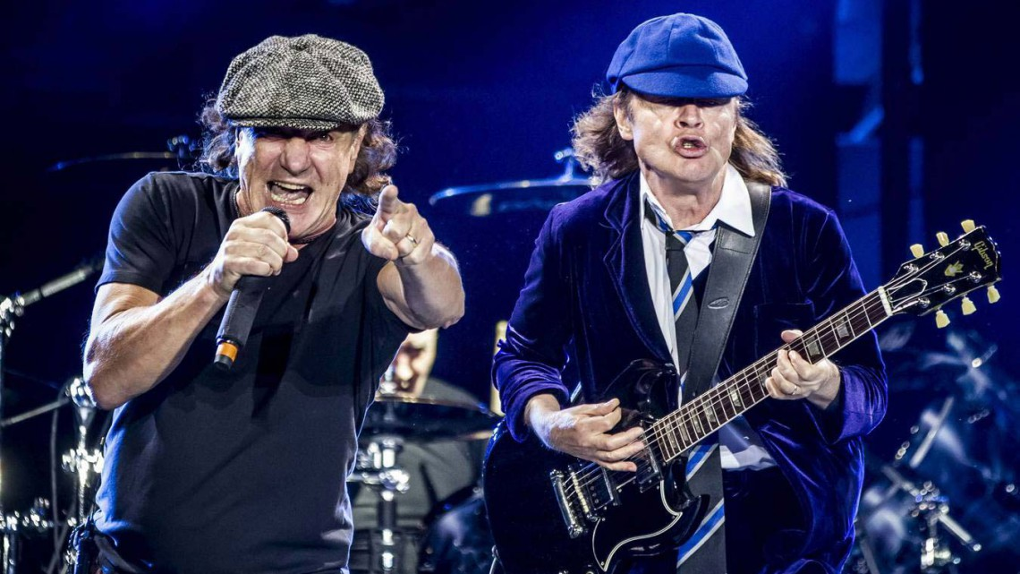 Brian Johnson e Angus Young. Turnê Rock or Bust.