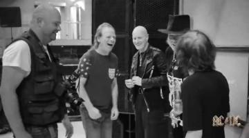 AC/DC com Axl Rose. Ensaios 2016.