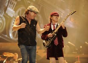 """AC/DC na primeira apresentação pela turnê """"Black Ice"""". 2008."""