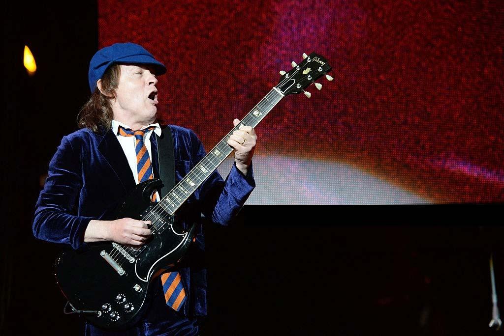 Angus Young. Coachella. 17 de abril de 2015.