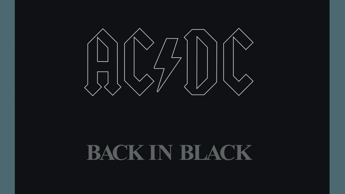 """Capa do álbum """"Back in Black"""""""