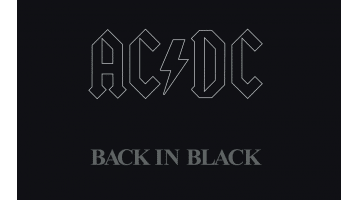 "Capa do álbum ""Back in Black"""