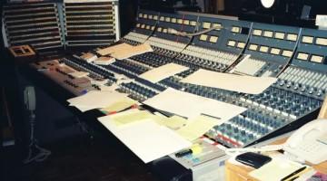 AC/DC. Bastidores de gravação em 1995.
