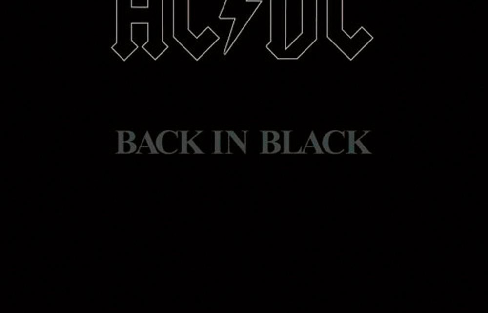 AC/DC Capa Back in Black Álbum
