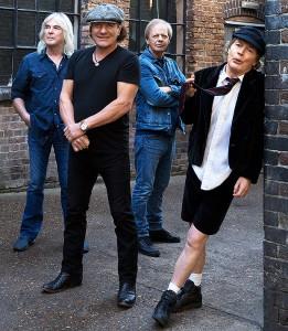 Foto promocional do AC/DC. 2014.