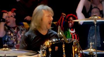 Bob Richards com AC/DC em Outubro de 2014