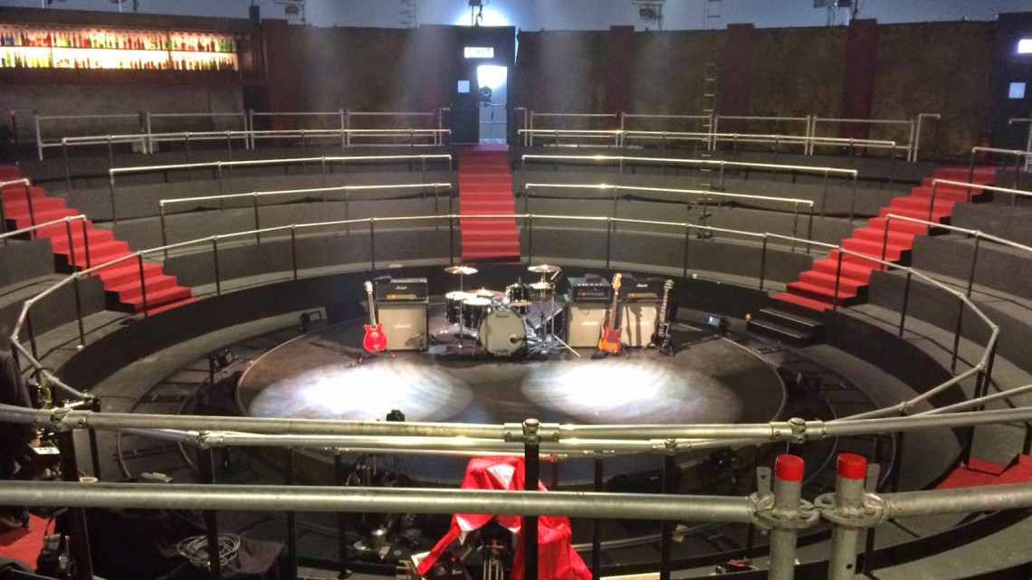 "Palco do clipe ""Rock or Bust"" - Out/2014"