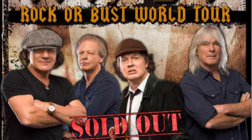 Cartaz do show da turnê Rock Or Bust em Dublin, Irlanda