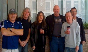 AC/DC no The Warehouse Studio em 2008