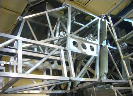 Estrutura de alumínio interna do trem