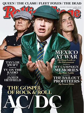 AC/DC na capa da revista Rolling Stone em 2008