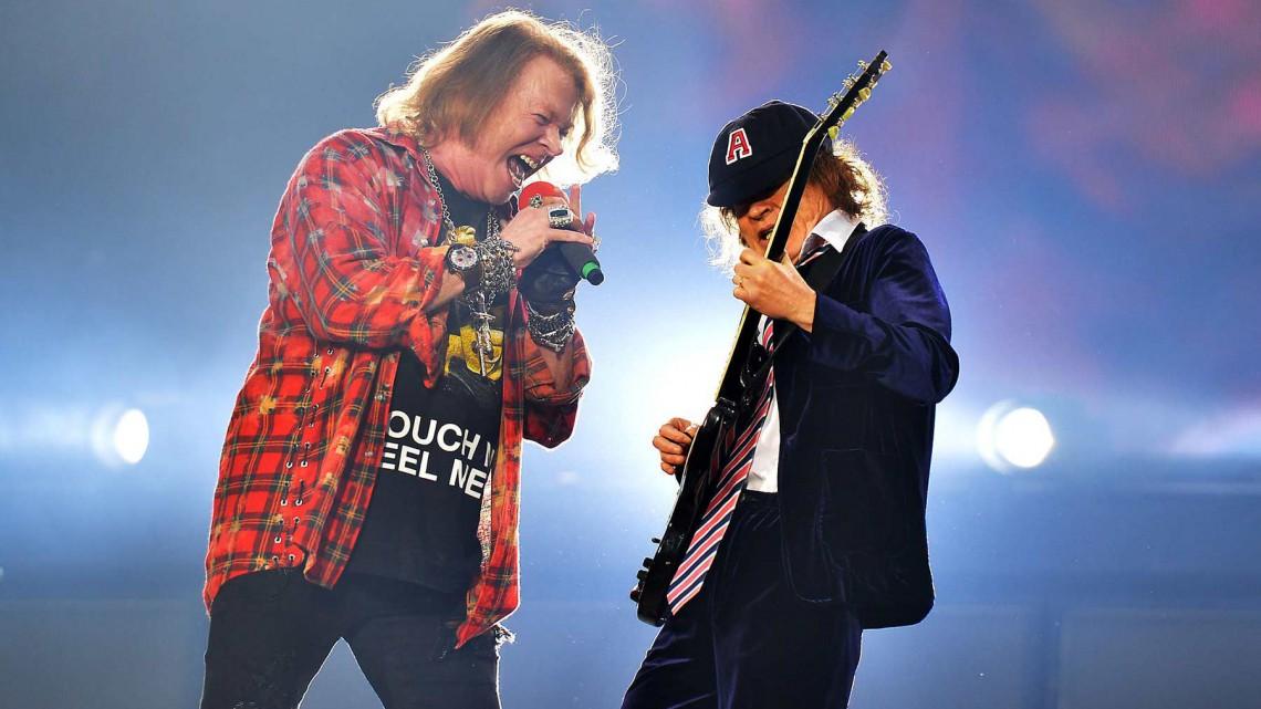 Angus Young está trabalhando em álbum com Axl Rose 1