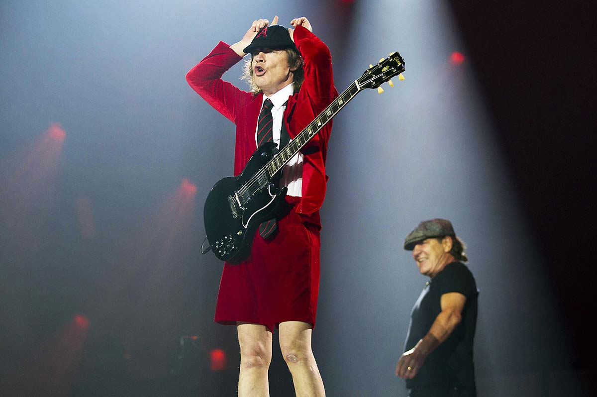 Angus Young e Brian Johnson