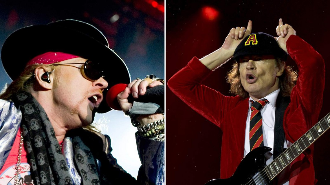 Axl Rose, Angus Young, ACDC