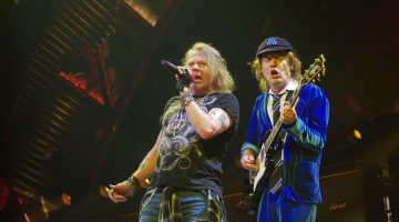 Axl Rose e Angus Young em 2016.