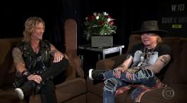 Axl Rose e Duff. Entrevista TV Globo.