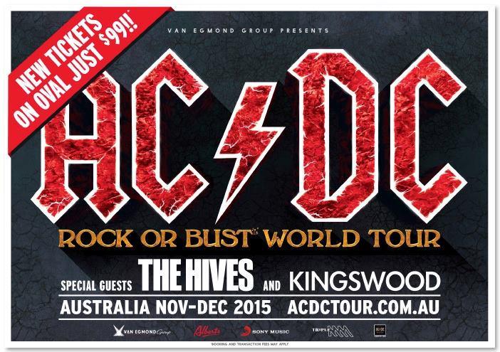 Bandas de abertura AC/DC na Austrália