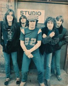 """AC/DC em 1980 durante as sessões de gravação de """"Back in Black"""""""