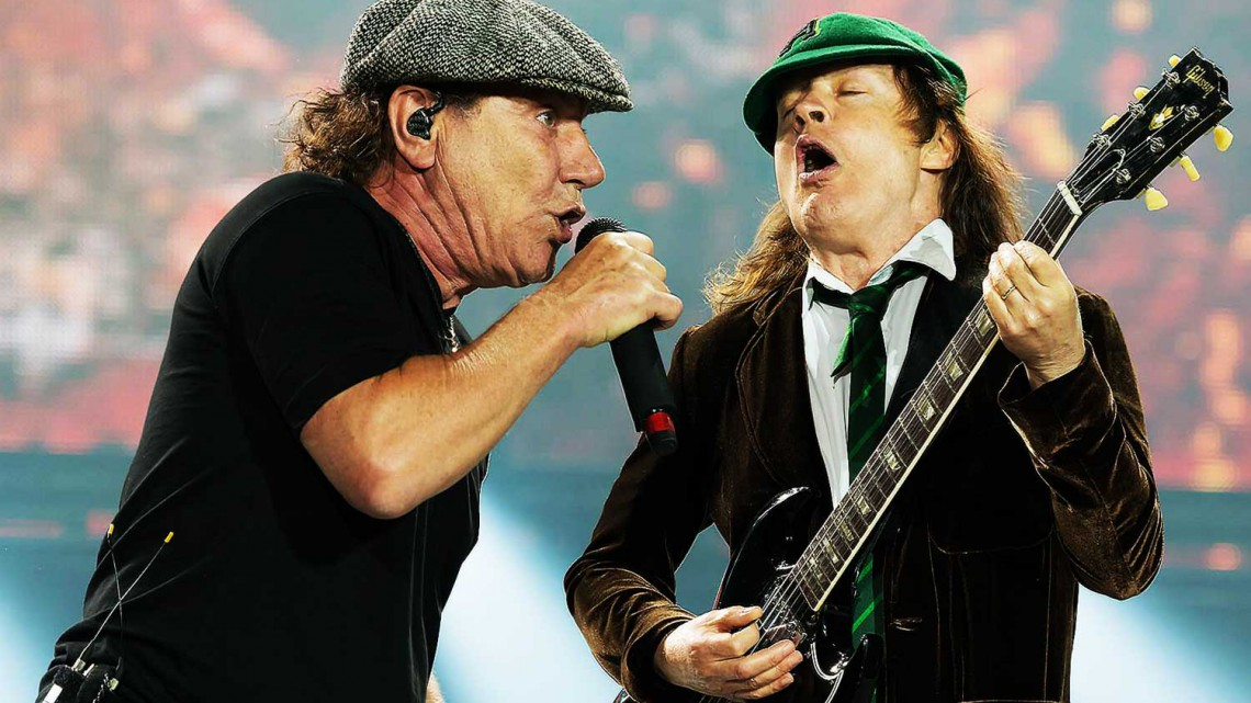 Brian Johnson e Angus Young. Canadá 2015.