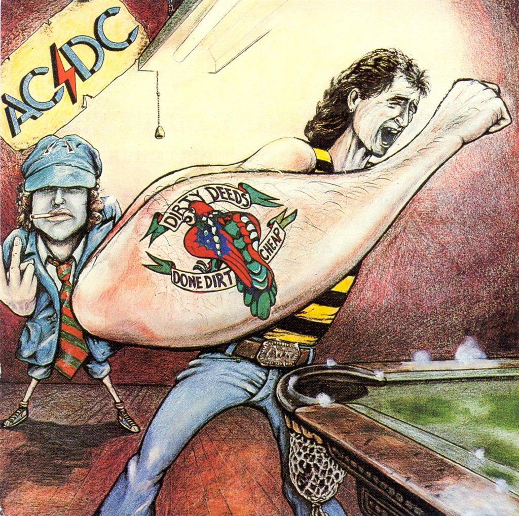 Capa AC/DC Dirty Deeds Done Dirt Cheap - Australiano