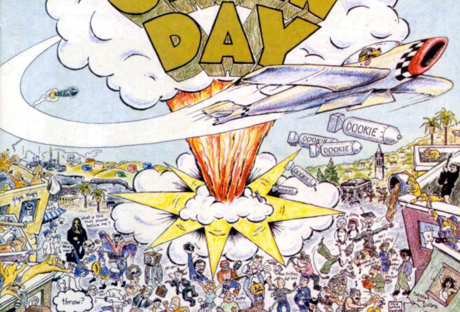 "Capa do álbum ""Dookie"" - Green Day"