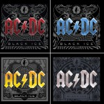 "Capas do álbum ""Black Ice"". AC/DC. 2008"