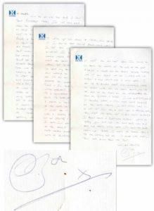Carta escrita por Bon Scott em 1978 será leiloada