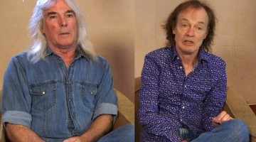 Cliff Williams e Angus Young. Maio de 2016.