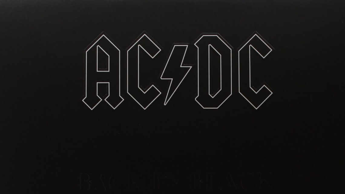 AC/DC. Back in Black. Capa.
