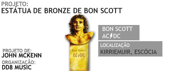 Projeto da estátua de bronze de Bon Scott