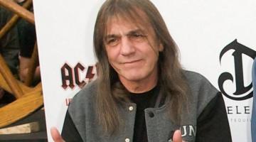 Malcolm Young na última foto com o AC/DC. 06 de maio de 2011. Premiere de lançamento do DVD Live at River Plate.