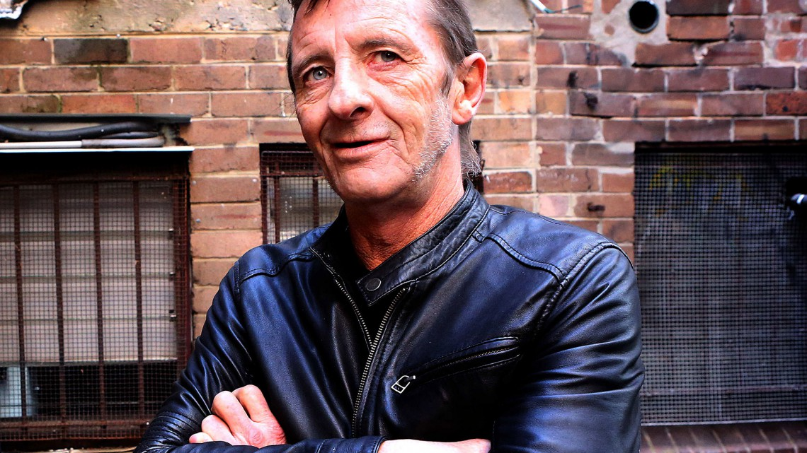 Phil Rudd. Foto para o álbum Head Job.