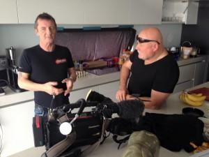 Phil Rudd e Trev Rodgers durante a entrevista para a TV3.