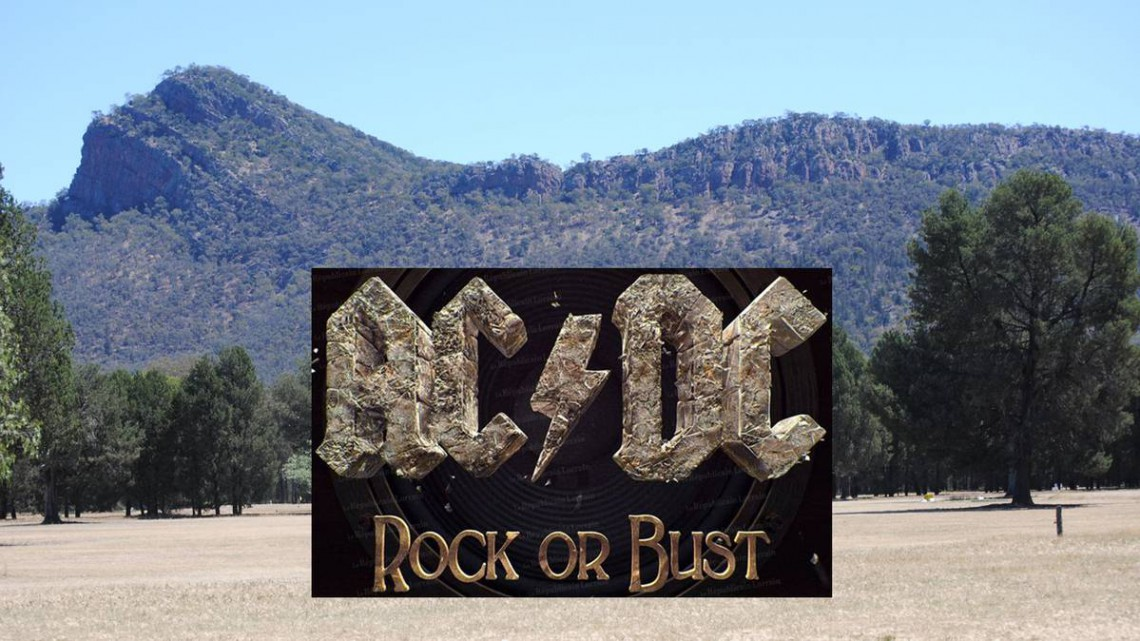 AC/DC. The Rock. Australia.