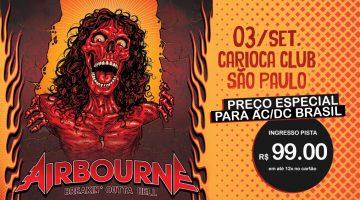 Airbourne no Brasil em Setembro. Desconto AC/DC Brasil.