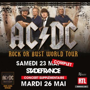 Cartaz do segundo show da turnê Rock or Bust no Stade de France, França