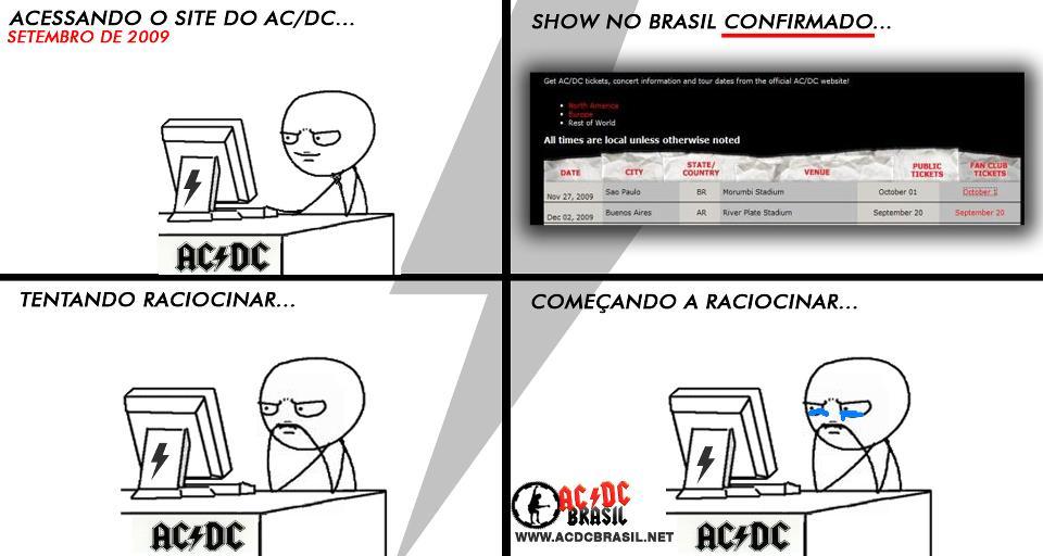 Tirinhas AC/DC - Anúncio do show em 2009