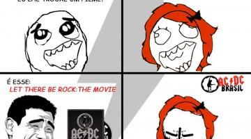 Tirinha AC/DC - Hell Ain't A Bad Place To Be