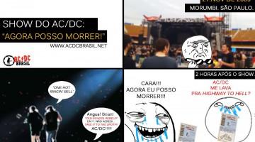 Tirinha AC/DC - Fã no Morumbi 2009