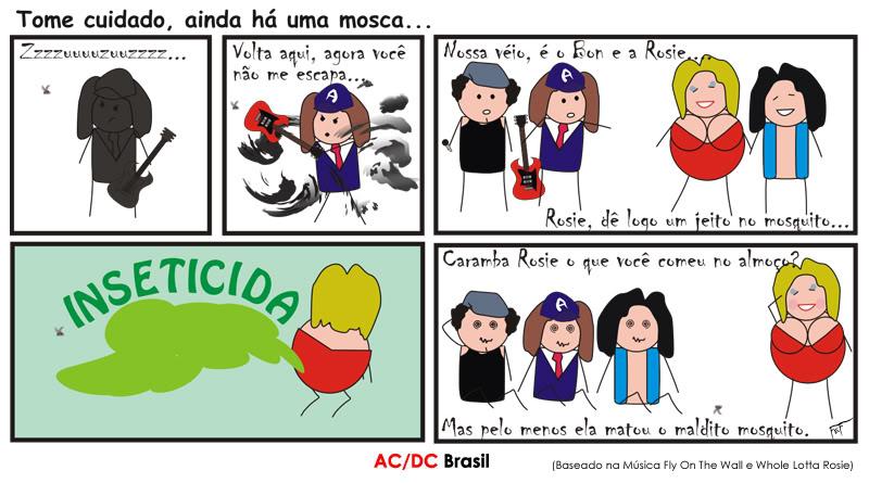 Tirinha AC/DC Brasil - Fly On The Wall