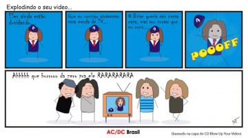 Tirinha AC/DC Brasil - Let There Be Rock
