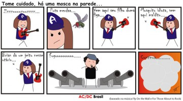Tirinha AC/DC - Fly On The Wall