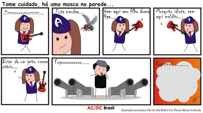 Tirinha AC/DC - Fly On The Wall